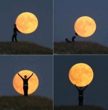 Play with the moon