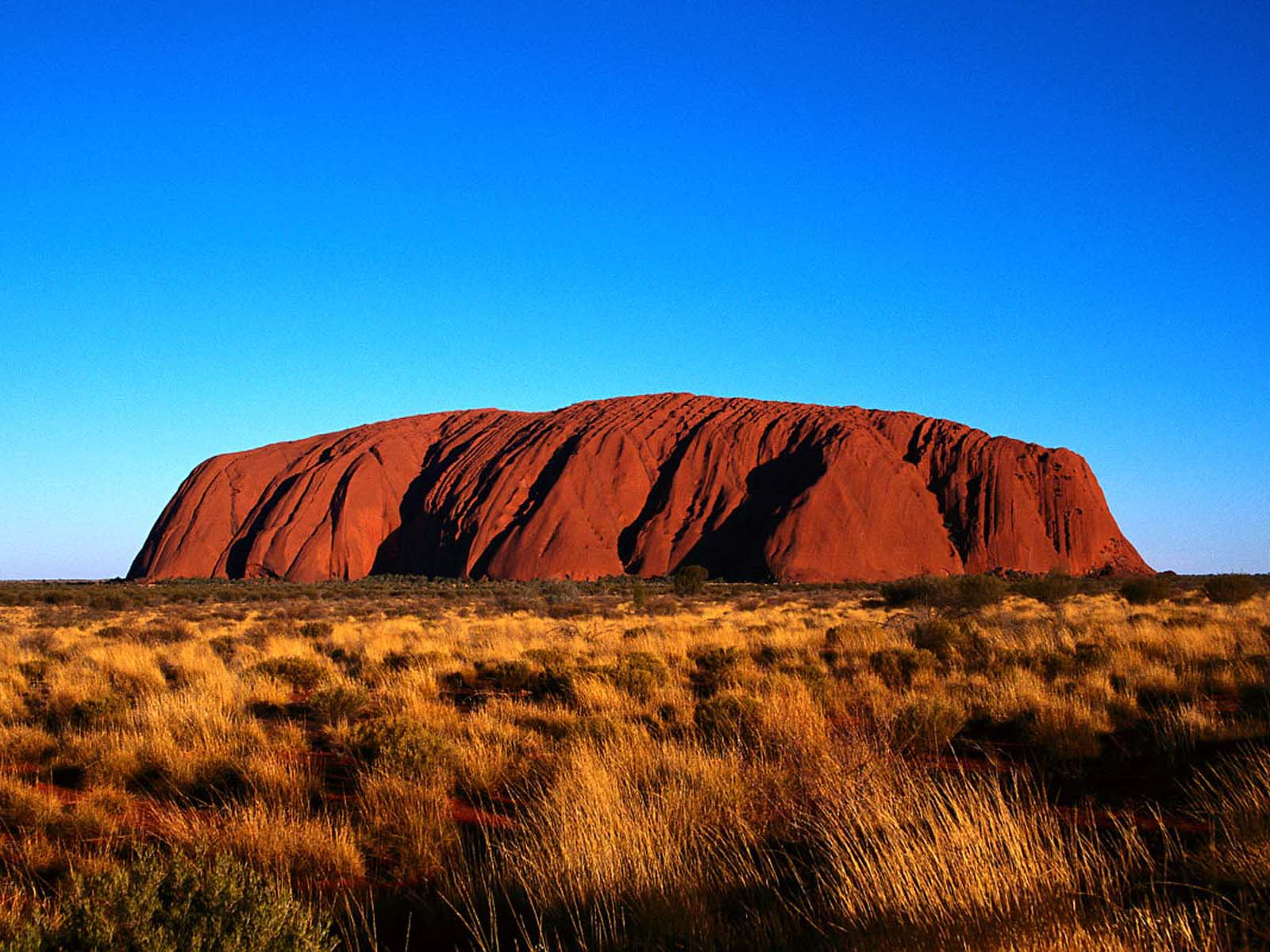 Ayers Rock Under a Blue Sky